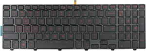 (Red Backlit) US Keyboard Replacementrd for Dell Inspiron 15 5000 15-3000 3541 3542 3543 3551 3552 15-5542 5545 5547 P39F 5555 5755 5551 5558 5552 5758 5759 7557 7559 5559 17 5748 5749 5755 0KF8C