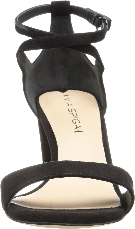 Via Spiga Womens Wendi Block Heel Dress Sandal