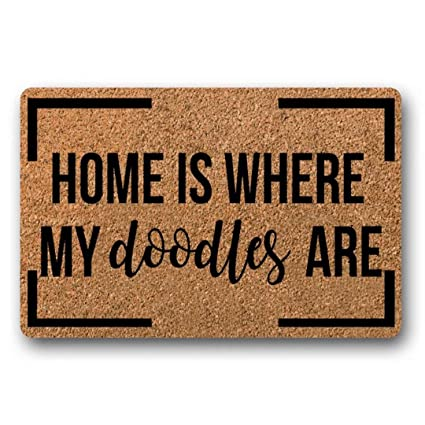 Amazoncom Bxbcasehomemat Home Is Where My Doodles Are