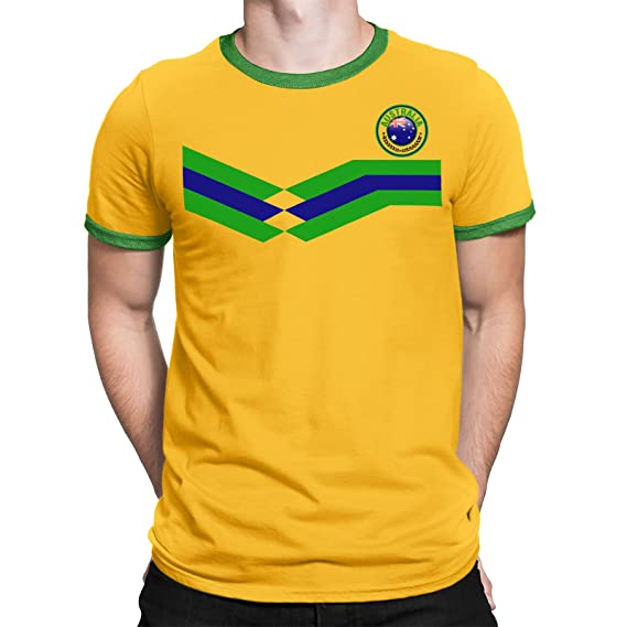 Tee Spirit Australia Camiseta Para Hombre World Cup 2018 Fútbol New Style Retro: Amazon.es: Ropa y accesorios