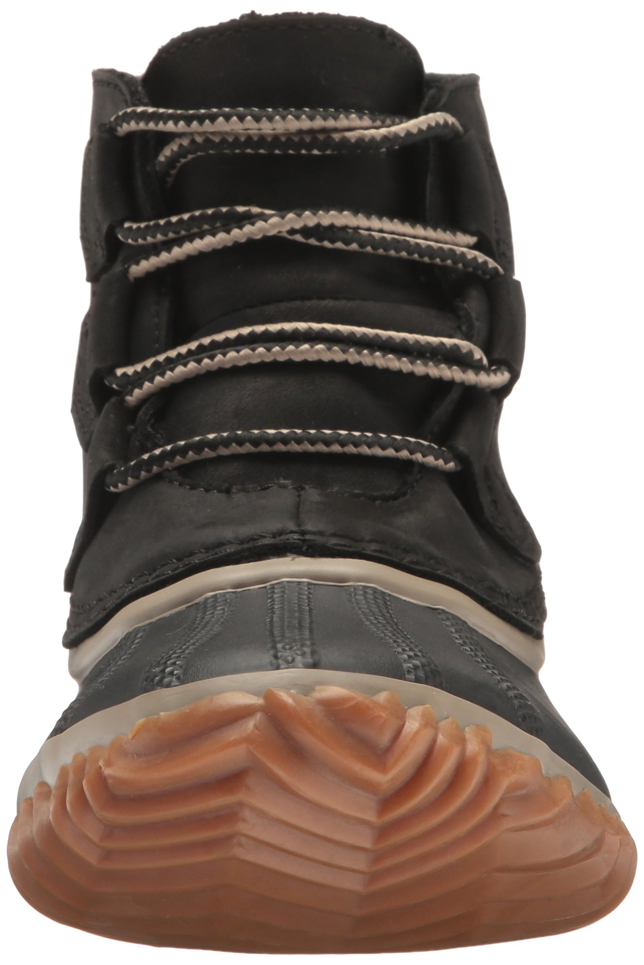 SOREL Women's Out N About Leather Rain Snow Boot, Black, 7.5 M US by SOREL (Image #4)