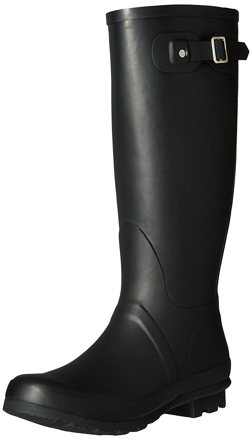 Chooka Women's Ch Classic Mid Cafe Racer Herringbone Rain Boot