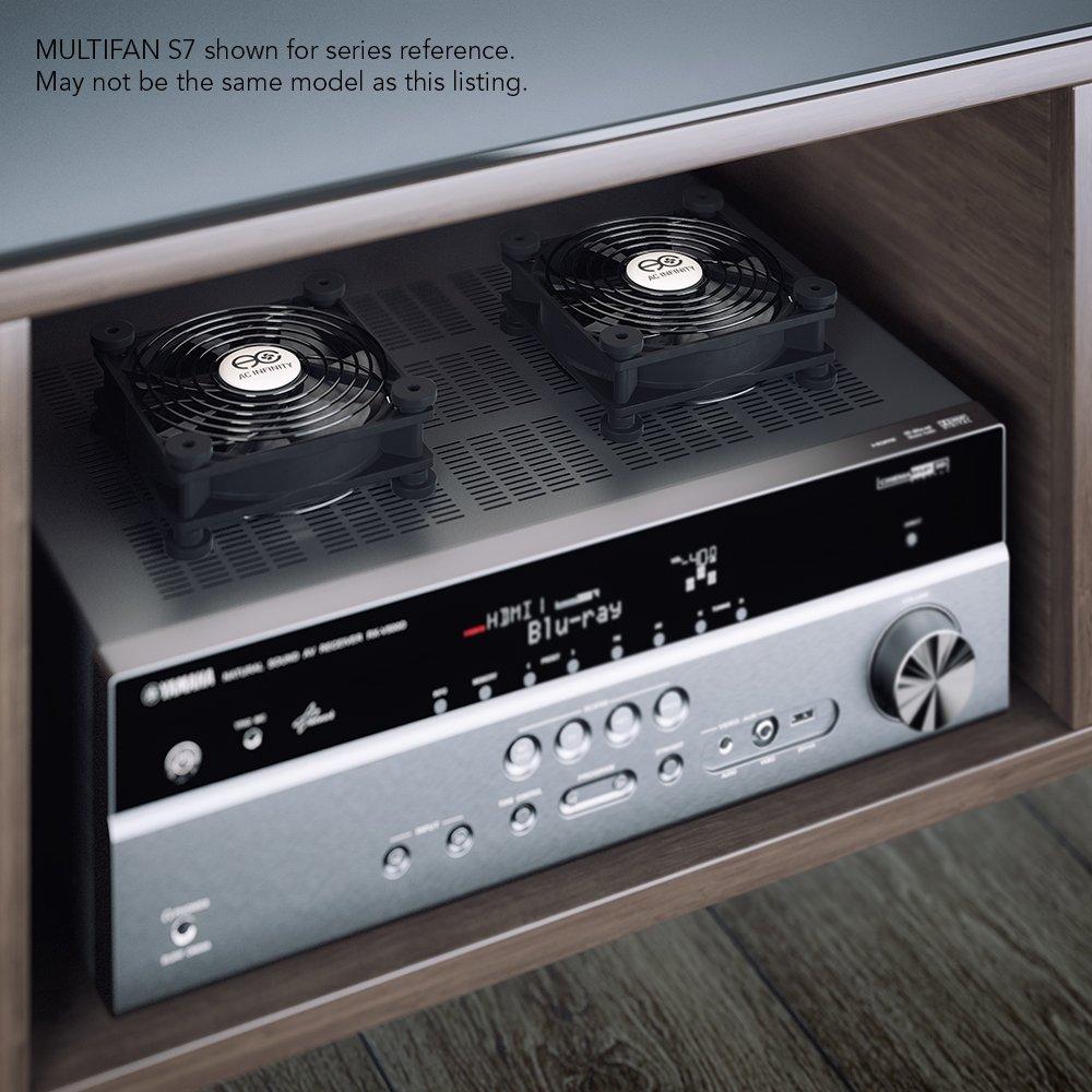 ventola silenziosa da 80/mm per raffreddamento di ricevitore DVR USB AC infinity Multifan S1 Xbox e PC Playstation