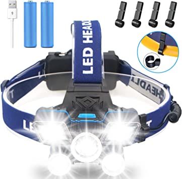 USB Rechargeable Waterproof Headlight New Brightest 21 LED 9Modes Work Headlamp