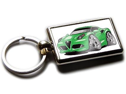 ALFA ROMEO 4 C Sports Car oficial Calidad Llavero de cromo ...