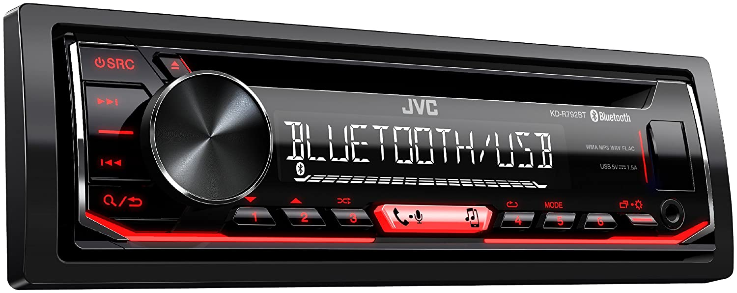 JVC KD-R792BT Dual Phone Bluetooth Spotify 1 Preout FLAC 13-Band EQ CD Player