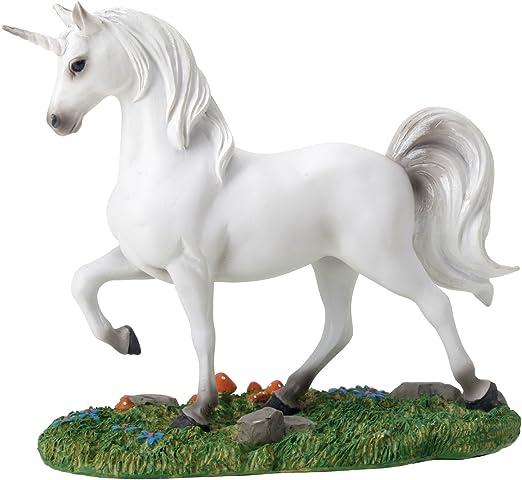 White Unicorn in the pasture mini collection fantasy decor figurine