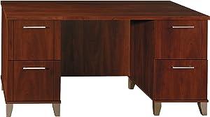 Bush Furniture WC81728 Office Desk with Drawers, 60W, Hansen Cherry