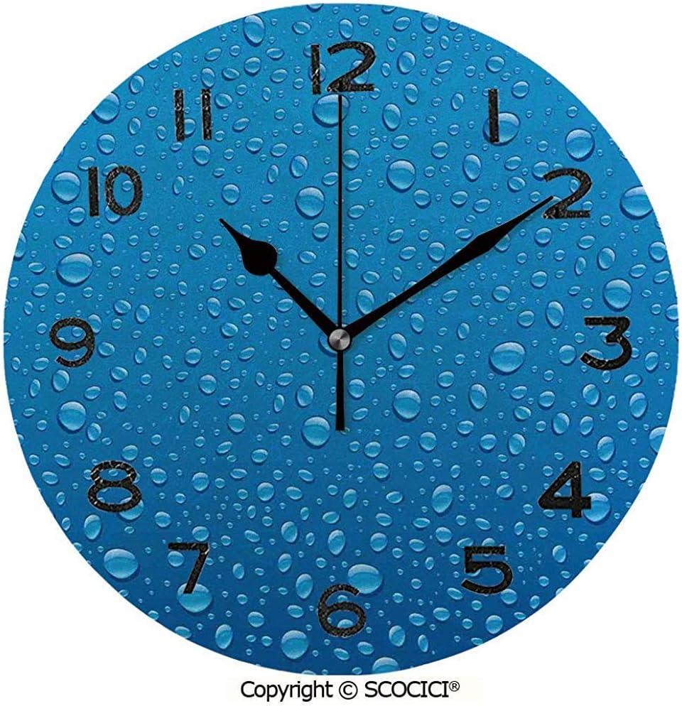L.Fenn Reloj Redondo Gotas De Agua sobre Vidrio Relajante Ecología ...