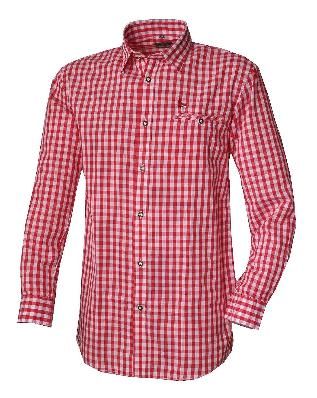 trachtenhemd Oktoberfest Freizeithemd kariert Karo Hemd Karohemd trachten hemd
