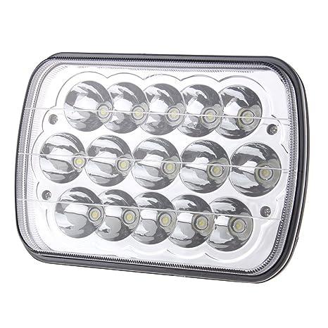 Repuesto de faro LED rectangular, reemplaza a H6054, H5054, H6054LL, 69822,