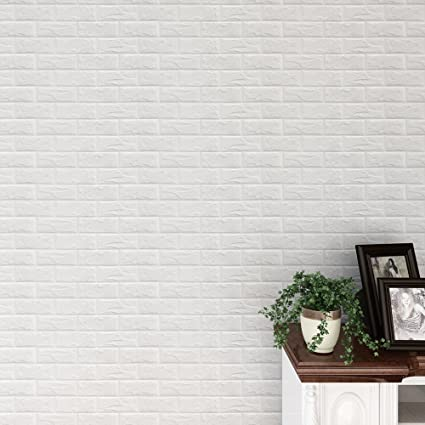 Amazon.com: Snowfoller Home Decoration Brick Stone PE Foam 3D ...