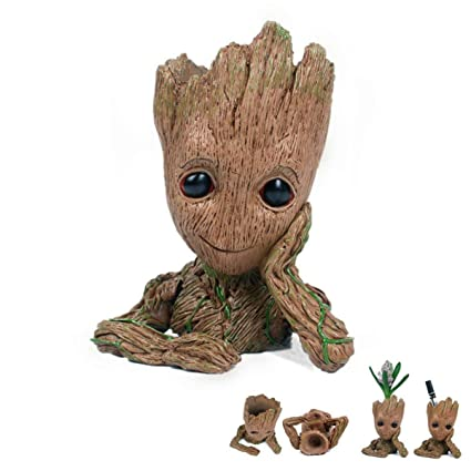 Amazon Com Multifunction Moive Baby Groot Planter Pen Container