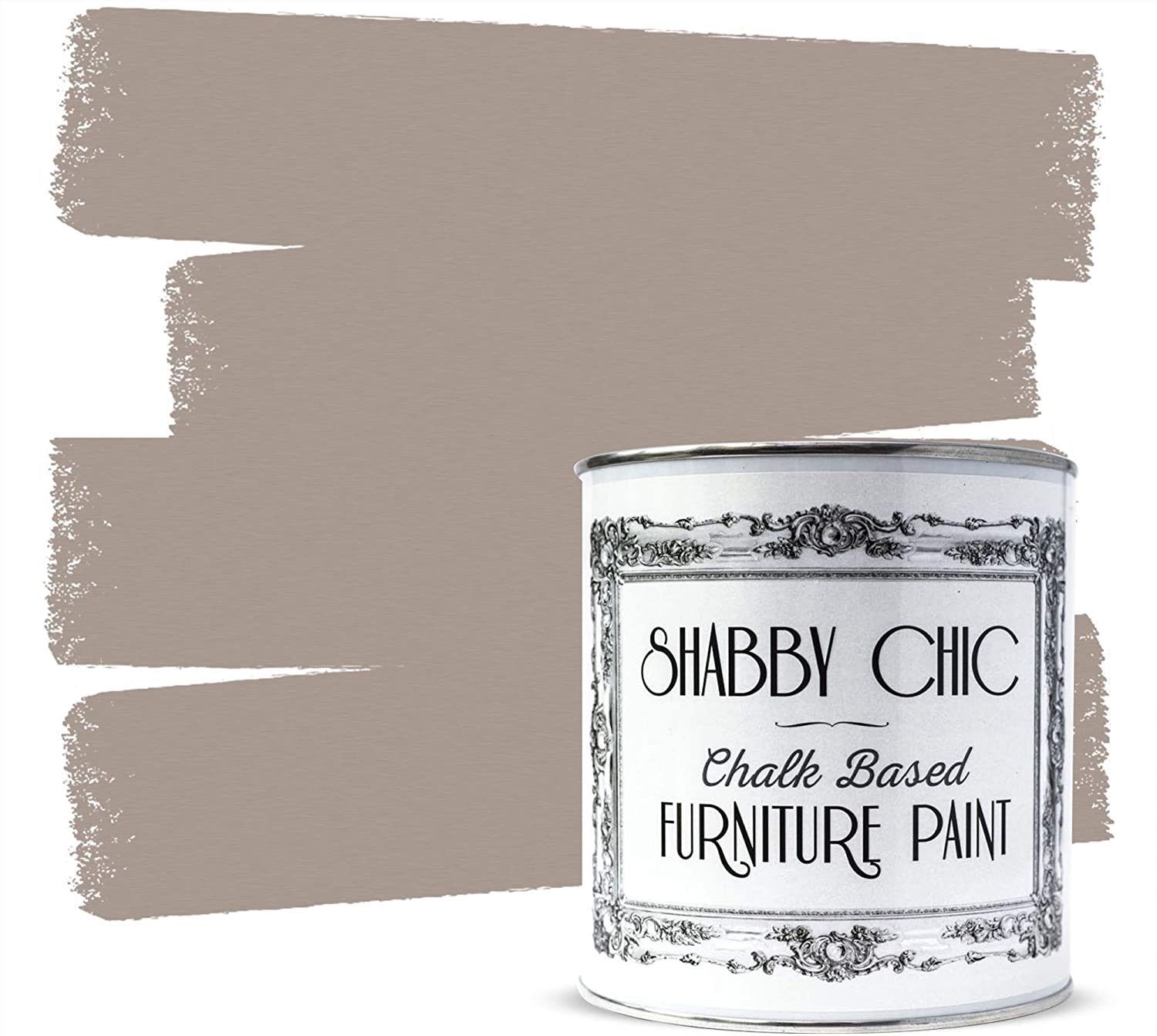 Shabby Chic Furniture Chalk Paint: Chalk Based Furniture and Craft Paint for Home Decor, DIY Projects, Wood Furniture - Chalked Interior Paints with Rustic Matte Finish - Liter - Latte