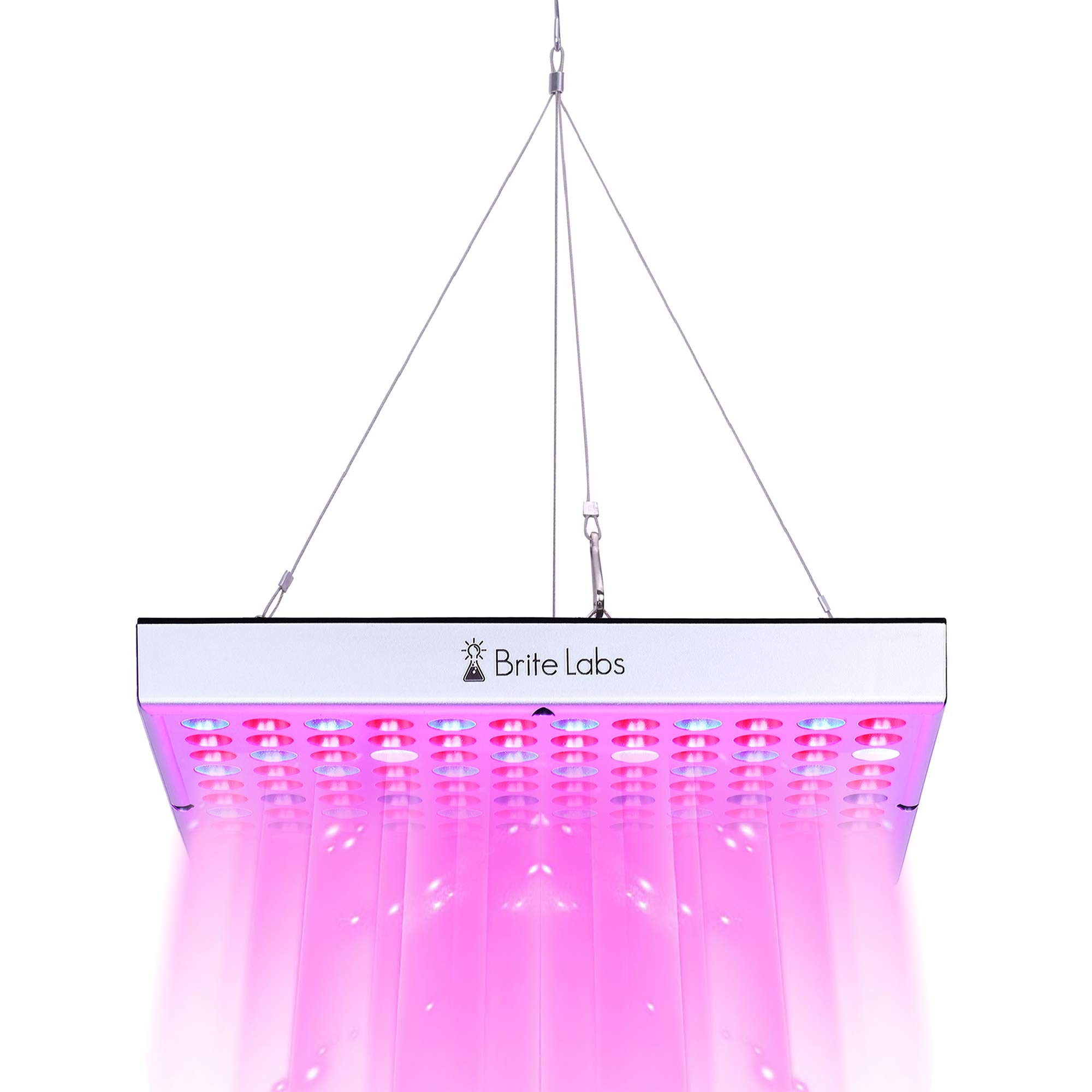 Brite Labs LED Grow Lights for Indoor Plants, 45W Full Spectrum Bulbs, Hanging Plant Grow Light Panel for Seedlings and Seed Starting, LED Growing Lamp Hanging Kit Fixtures and Accessories Included by Brite Labs