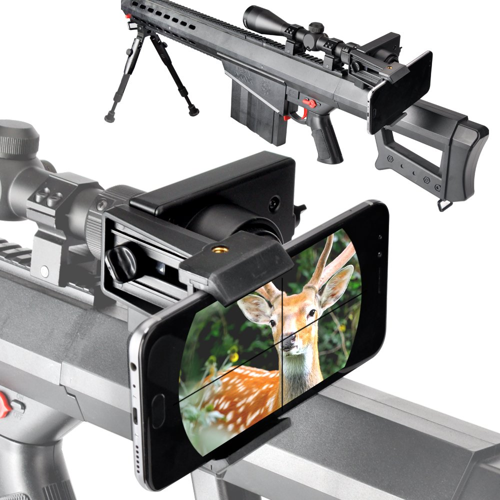 Landove Rifle Scope Smartphone Mounting System Smart Shoot Scope Mount Adapter for Gun Scope Airgun Scope Display Record The Hunt Via The Phone by LANDOVE