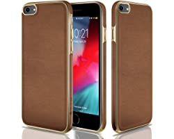 CellEver Compatible with iPhone SE 2020 Case/iPhone 7 Case/iPhone 8 Case, Ultra Slim Hand Made Soft Vegan Leather Flexible Pr