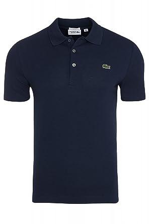 Lacoste Herren Poloshirt L1230 SF in Slim Fit, Kurzarm aus 100% Baumwolle,  blau
