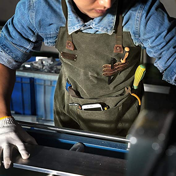 Regolabile con Tasca in Tela Multifunzione JEXICASE Impermeabile Grembiule da Lavoro Durevole