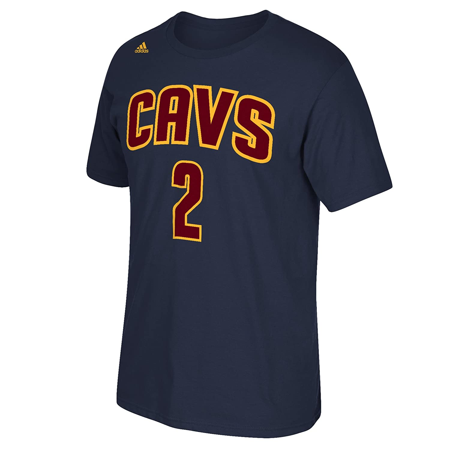 reputable site 9883d 0b78c adidas Kyrie Irving Cleveland Cavaliers Jersey Name and Number T-Shirt