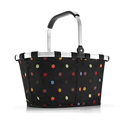 ee09f1715 Amazon.com: reisenthel Carrybag Fabric Picnic Tote, Sturdy Lightweight  Basket for Shopping and Storage, Dots: Kitchen & Dining