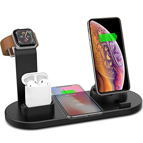 Cargador Inalámbrico para iPhone iWatch AirPods, 3 en 1 ...