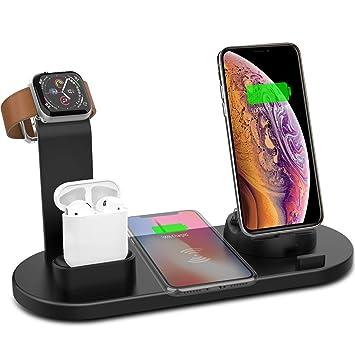 Uexed Cargador Inalámbrico para iPhone iWatch AirPods, 3 en ...