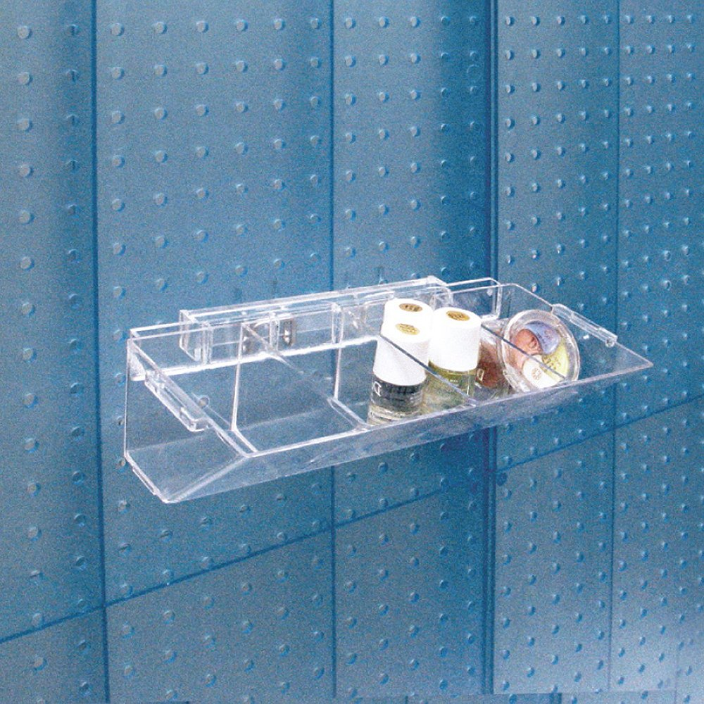 Pack of 2 Azar Displays 223011-2pack  4-Compartment Pegboard//Slatwall Tray