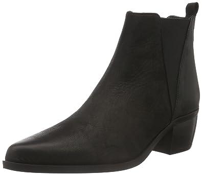 Chelsea Boot, Bottes Classiques Femme - Noir (Black Leather), 36 EUMentor