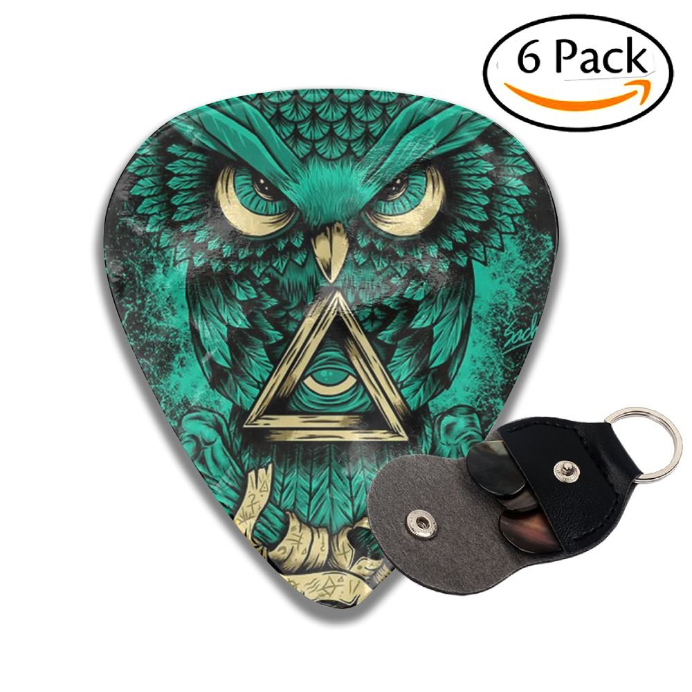 Hhgyttg Stylish Owl Wizard Celluloid Guitar Picks Plectrums for Guitar Bass vddfgdf