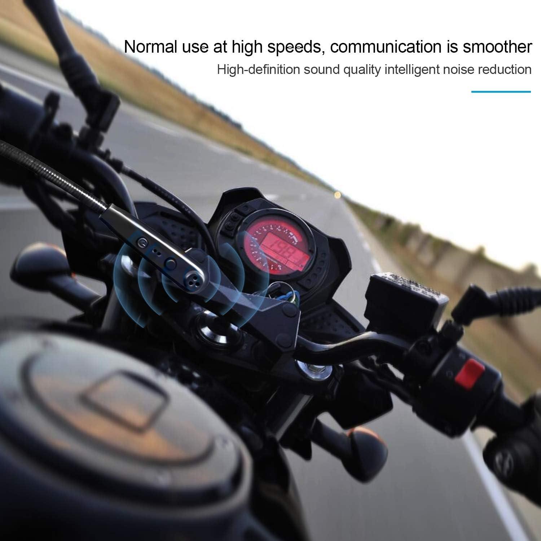 XUEM Helmet Bluetooth Intercom Motorbike Communication System Interphone Headset Great for Riding,Skiing