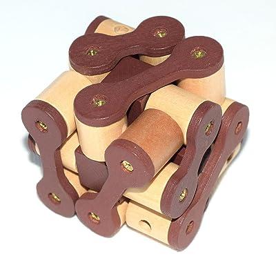 Joyeee® Cubo 3D Rompecabezas de Madera Juego Puzle - #13: Juguetes y juegos
