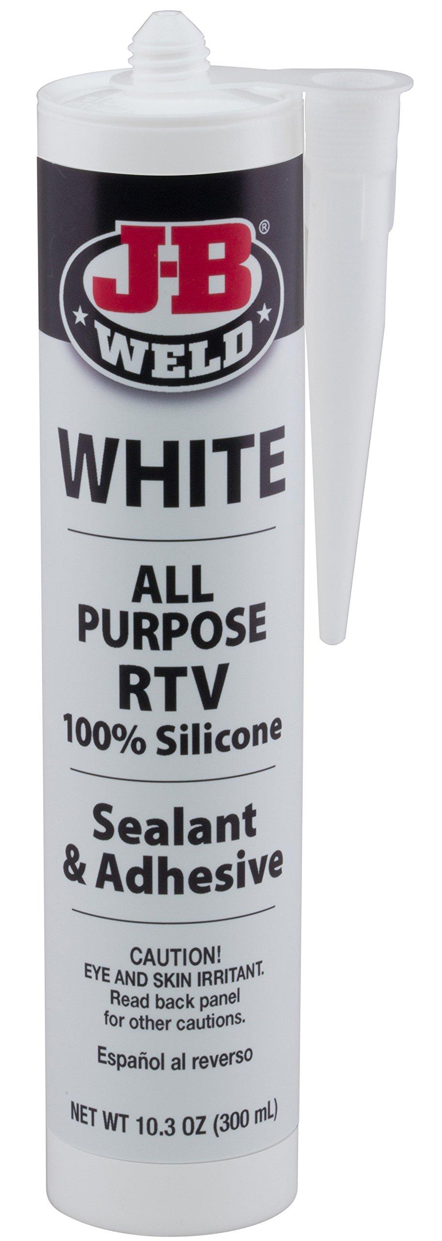 J-B Weld 31912 White All-Purpose RTV Silicone Sealant and Adhesive - 10.3 oz.