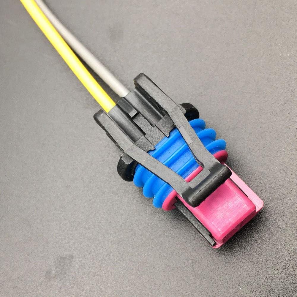 Aokus FOR GM LS 2-Wire Pigtail Coolant Temperature Sensor Connector Water Temp LS1 Plug Radiator Switch OEM Color LS1 LS3 LS2 LQ4 LQ9 LS6 L92 L99 L33 LR4