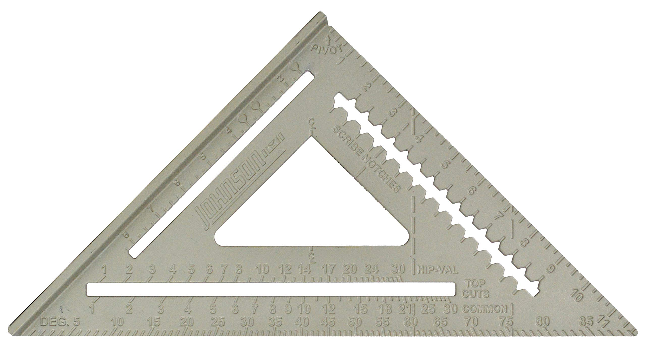 Johnson Level & Tool RAS-120 12-Inch Aluminum Rafter Angle Square w/Manual