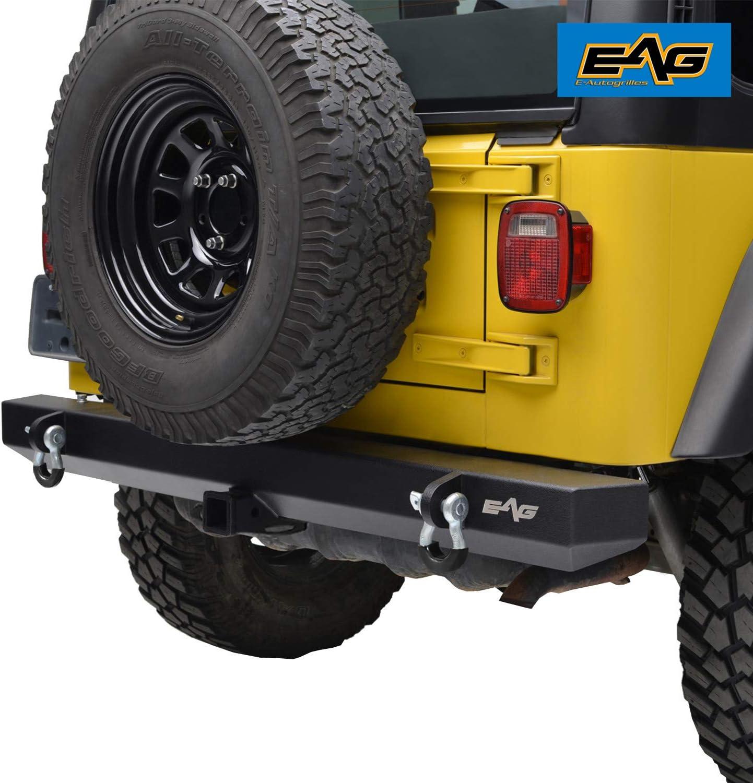 "SmittyBilt 2/"" Receiver Hitch Fit 87-06 Jeep Wrangler LJ With Tubular Bumper"