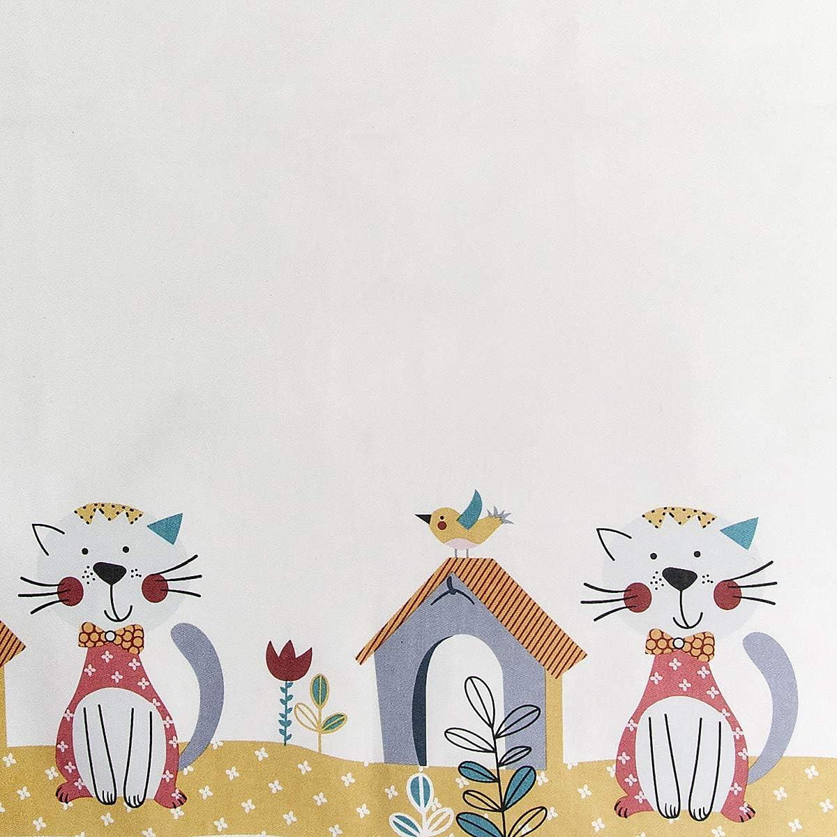 Cadeau Cuisine Cuisini/ère Femme et Amateur des Chats SPOTTED DOG GIFT COMPANY Ensemble 3 Motif Chat Mignons Torchons de Cuisine Tablier et Maniques Cuisine Gant