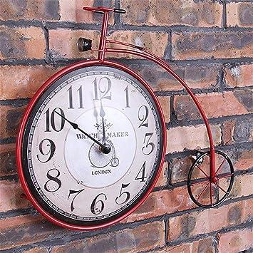 Rueda De Bicicleta Reloj De Pared Industria Viento Restaurar Las ...