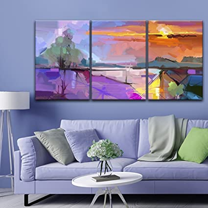 Amazon.com: wall26-3 Panel Canvas Wall Art - Abstract Colorful ...