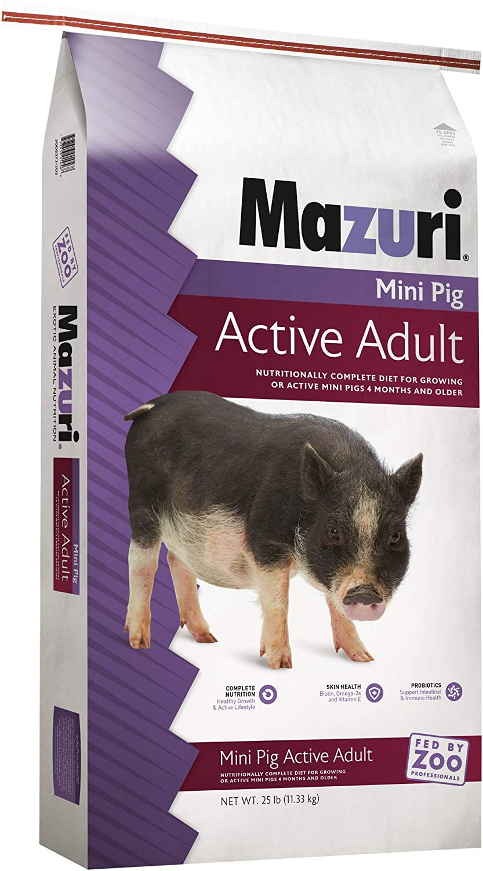 Mazuri Mini Pig Active Adult Food, 25 lb Bag