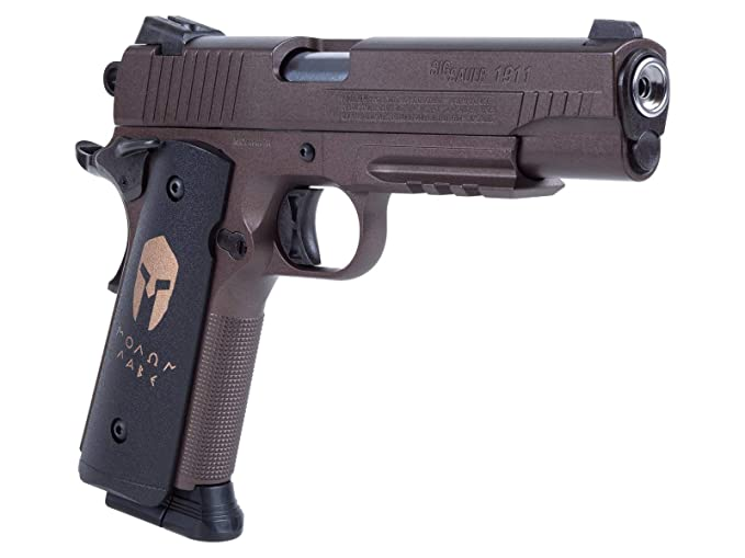 574e6d2ac4c Amazon.com   Sig Sauer 1911 Spartan Air Pistol (CO2 Cartridges are not  Included)   Sports   Outdoors
