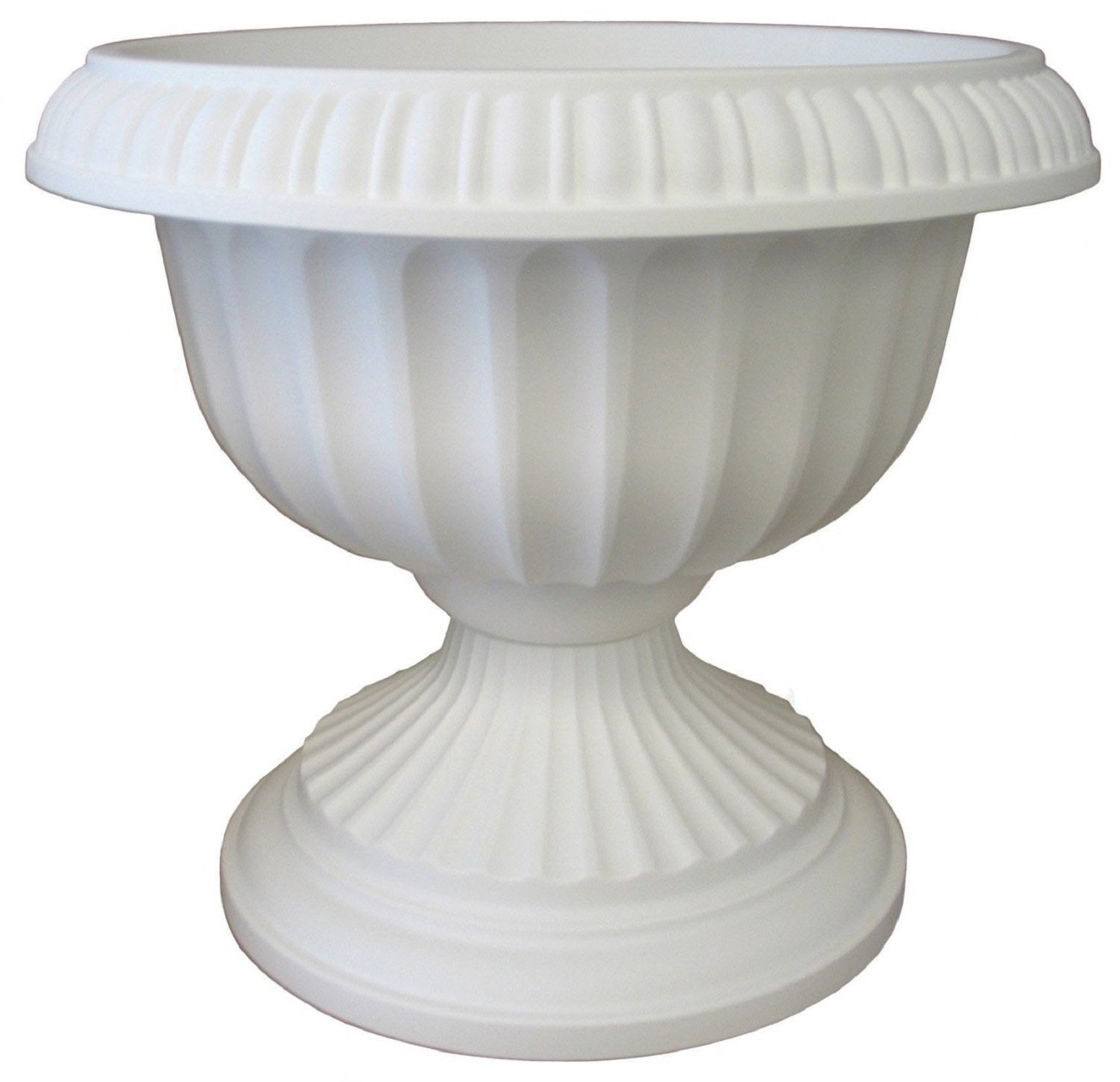 Bloem Grecian Urn Planter, 12'', White by Bloem