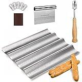 Smart Serve Pan Lame con molde para hornear y raspador de pan, 3 en 1 suministros para hornear con cortador, marcador y bande
