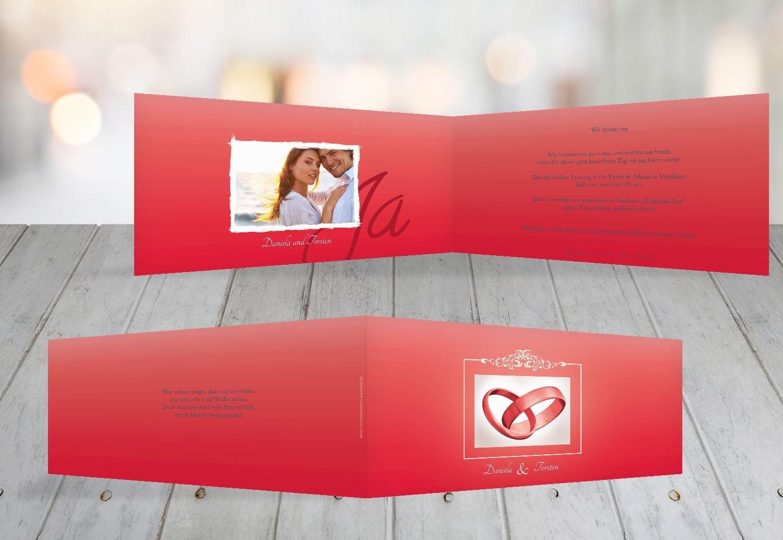 Kartenparadies Hochzeitskarte Hochzeit Hochzeit Hochzeit Einladung Din Ringetausch, hochwertige Einladung zur Heirat inklusive Umschläge   10 Karten - (Format  215x105 mm) Farbe  flamingoOrangerot B01MS9MJ6U | Sehr gelobt und vom Publikum der Verbraucher geschätzt  | a7ba22