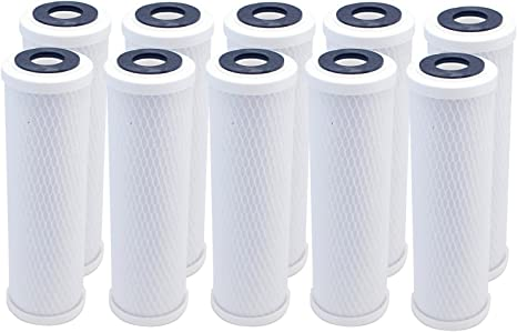 "10/"" CTO Activated Carbon Water Filter Cartridge Replacement Stage 3 5 Micron"