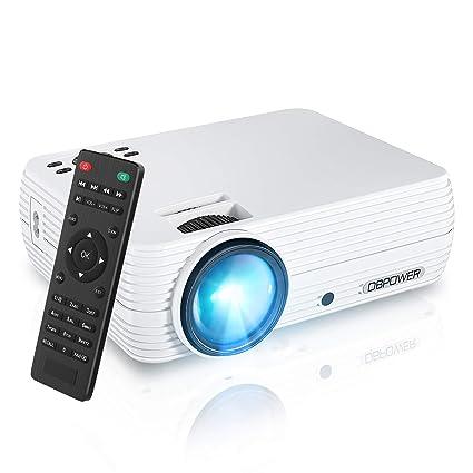 DBPOWER Mini proyector de vídeo portátil 50.000 Horas LED ...