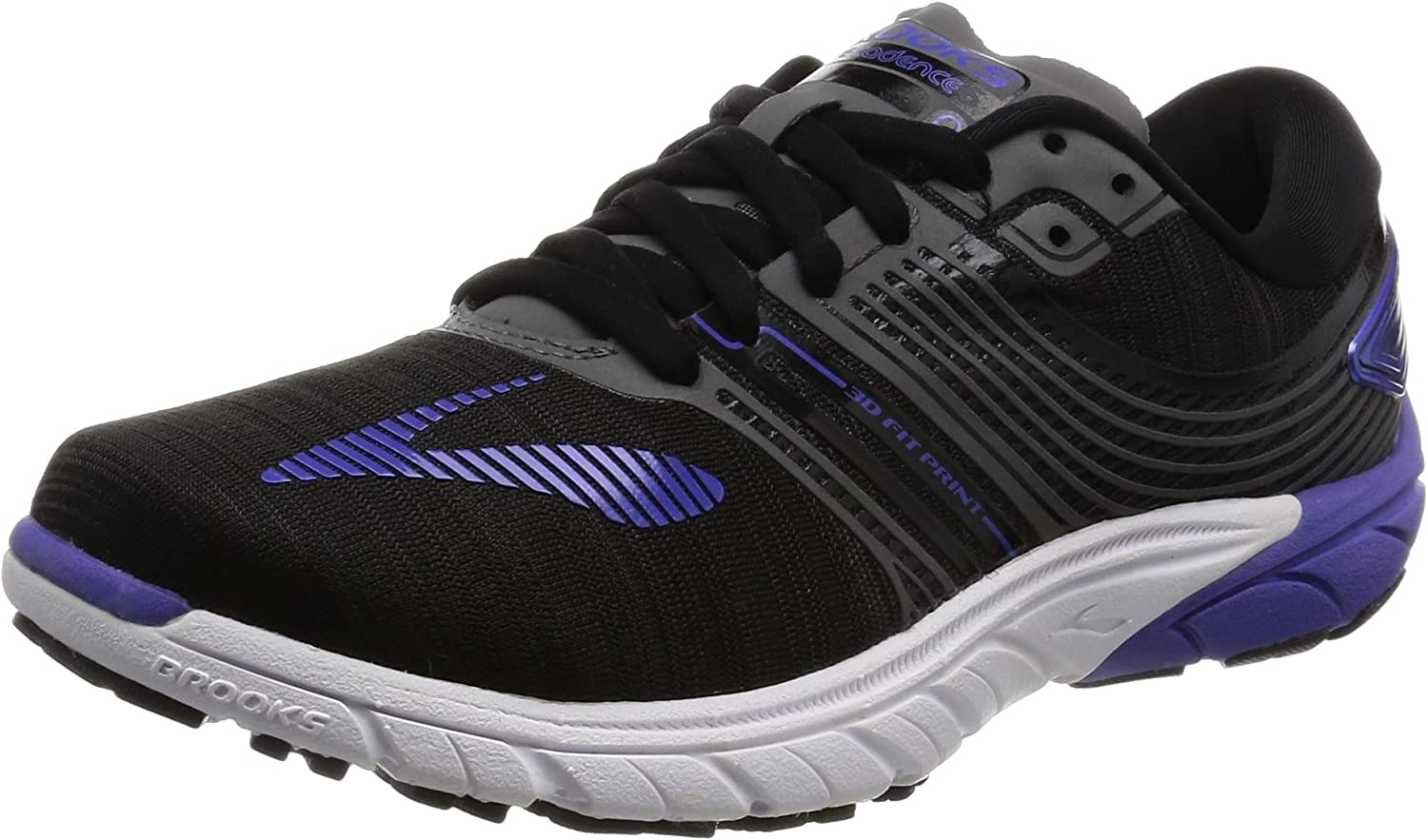 Brooks Women s PureCadence 6 Black Anthracite Blue Iris 7 B US