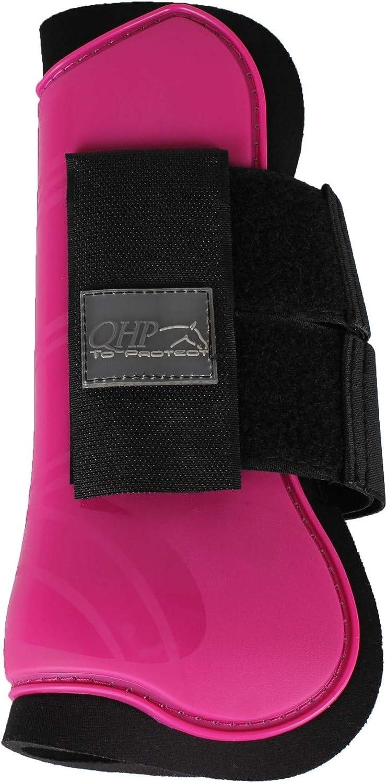 Equipride QHP - Botas de tenis para caballos de caballo, talla 14, color sorprendente, color azul