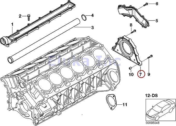 For BMW E60 E63 E66 E70 Rear Crankshaft Seal w// Housing OEM CORTECO-CFW