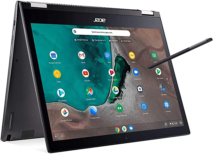 "Acer Chromebook Spin 13 Convertible, 8th Gen Intel Core i3-8130U, 13.5"" 2256 x 1504 Touchscreen, 4GB LPDDR3, 128GB eMMC, 802.11ac WiFi 5, Backlit Keyboard, Wacom Stylus, Chrome OS, CP713-1WN-37V8"